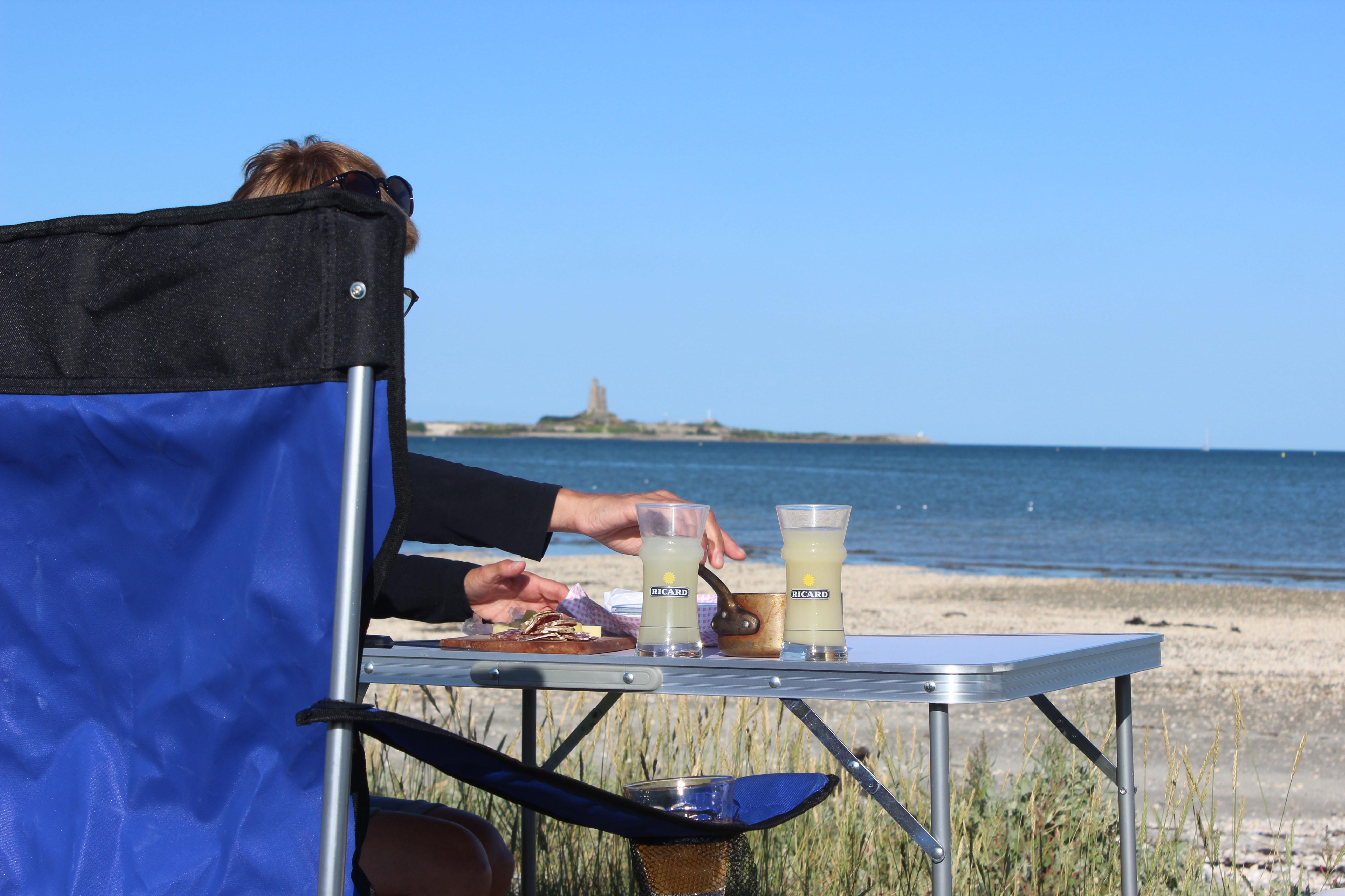 ... und die Getränke am Strand